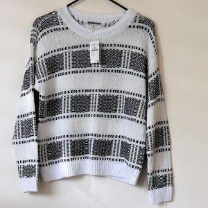 NWT Lou & Grey - Black and White Plaid Sweater